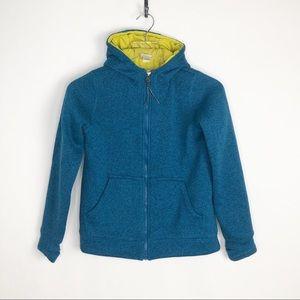 L.L. BEAN Full Zip Sweater Jacket Blue M 10-12